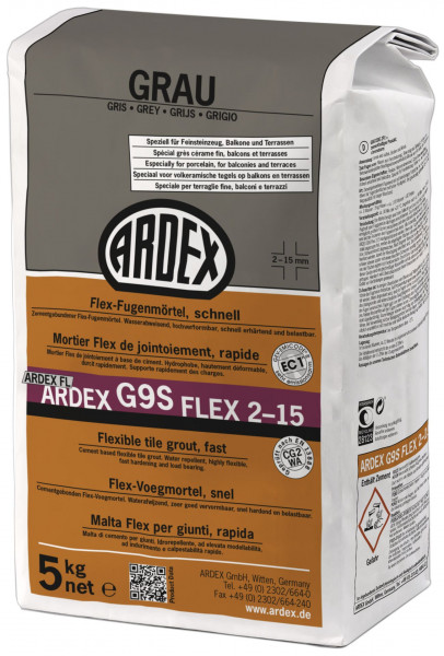 Ardex G9S Flex-Fugenmörtel schnell grau 5kg