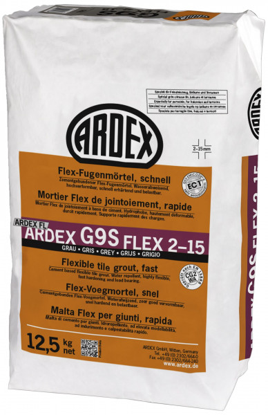Ardex G9S Flex-Fugenmörtel schnell grau 12,5kg
