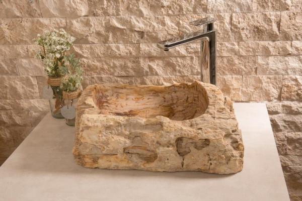 Becken Marco versteinertes Holz ca. 40x50 cm