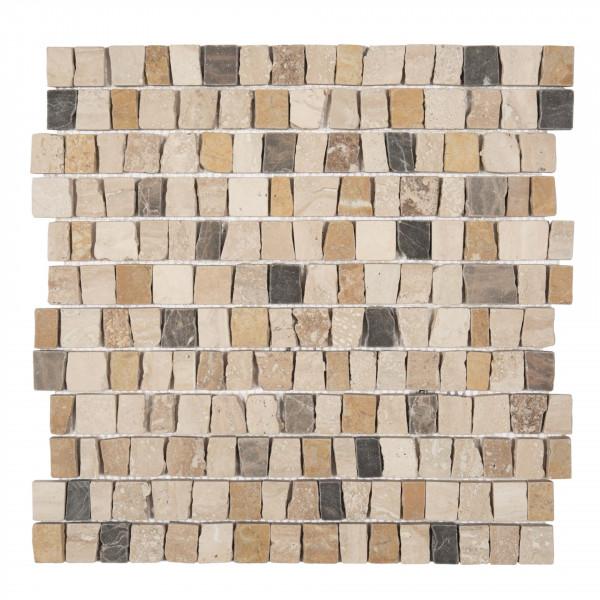 Mosaik Pompeji Travertin mix 30x30 cm