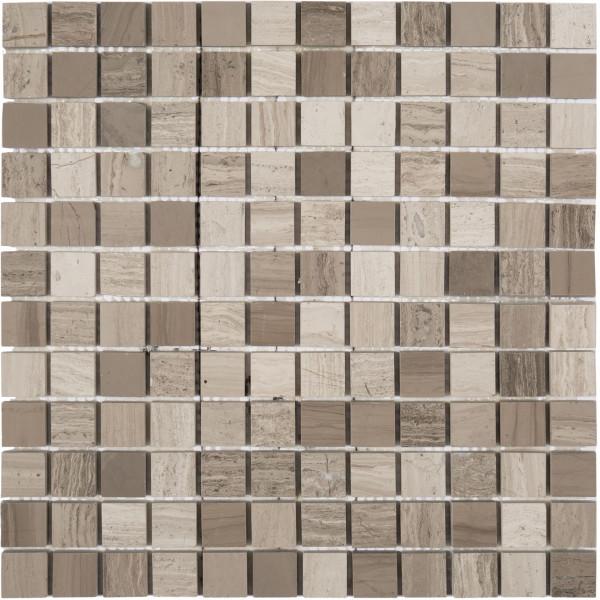 Mosaik Wood grey 30x30 cm poliert