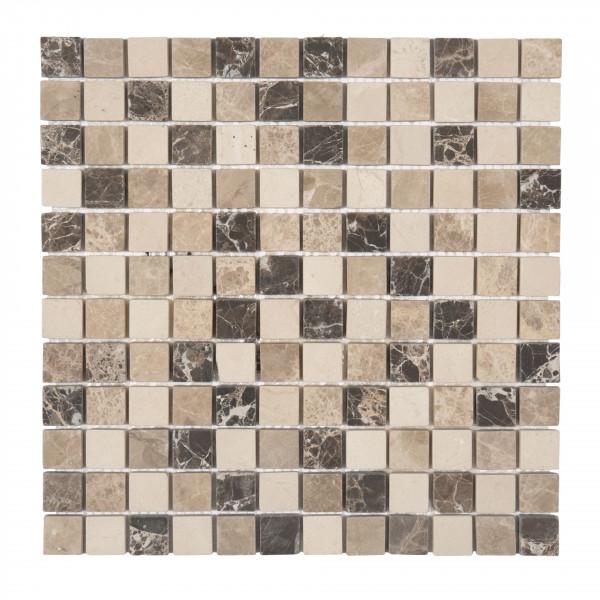 Mosaik Emperador dark/light, beige 30x30 cm