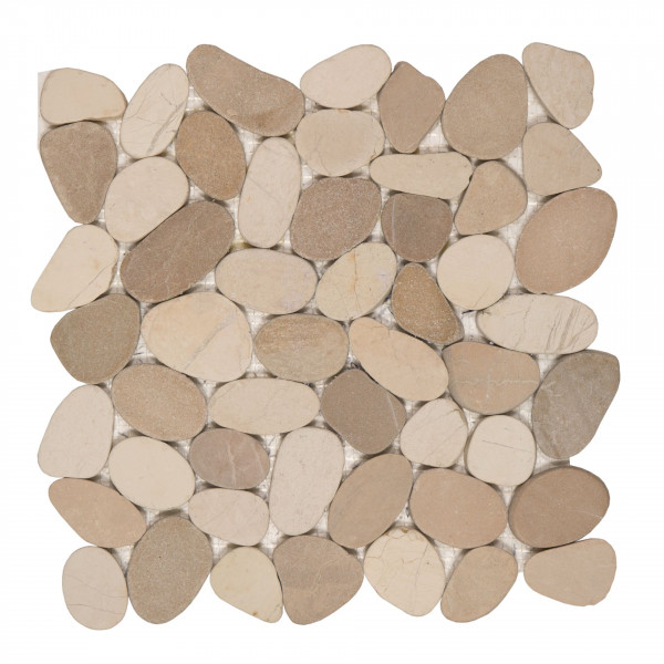 Mosaik Sassi white/tan-mix 30x30 cm