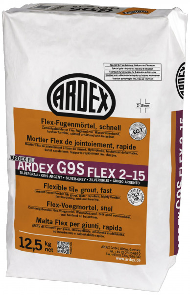 Ardex G9S Flex-Fugenmörtel schnell silbergrau 12,5kg