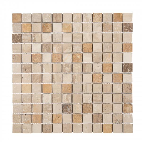 Mosaik Travertin Yellow/Noce/Chiaro 30x30 cm