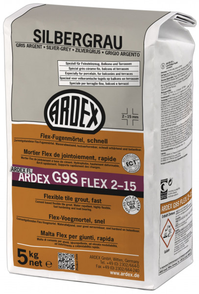 Ardex G9S Flex-Fugenmörtel schnell silbergrau 5kg